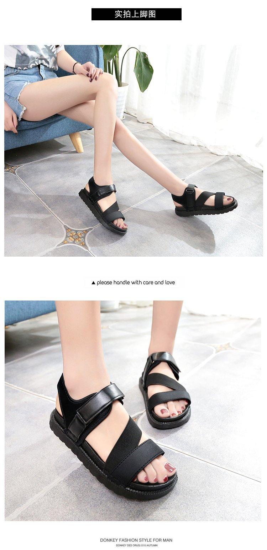 Summer Sandalias Mujer 2019 Shoes Woman Classics Gladiator Hook Loop Sandals Women Shoes Casual Flat Platform Block Heel Shoes 13