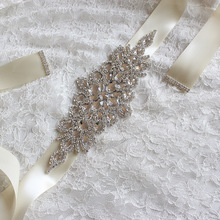 Кристаллами удивительные стразы бисера невесты пояса работы свадебные ручной новые платье