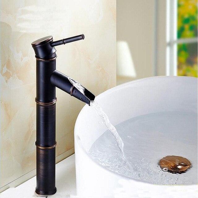 8 Types cuivre noir bambou style bassin robinet antique, rétro salle ...