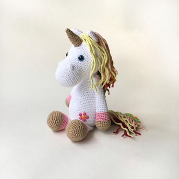 crochet toys  amigurumi  rattle  unicorn    model number  yx006