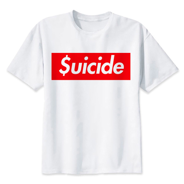 da4aa0b66cfe Suicide Squad T-Shirt Men Summer Harley Quinn Joker Deadshot Boomerang T  Shirt Boy Short