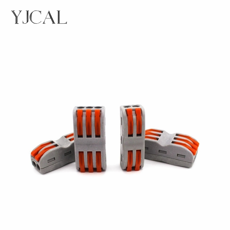 Wago Type Wire Connector SPL 2 Cage Spring New Universal Docking Fast Wiring Conductors Terminal Block