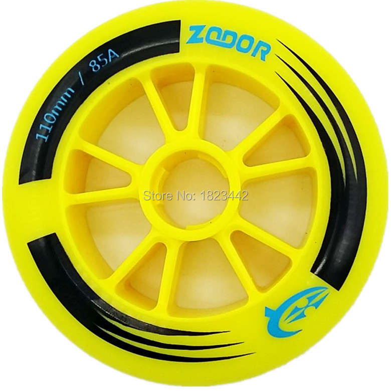 Authentic ZODOR Speed Skating Shoes Wheels Racing Shoes Wheel 90 Mm 100 Mm To110 Mm High Strength Inline Speed Skate 85A Wheel