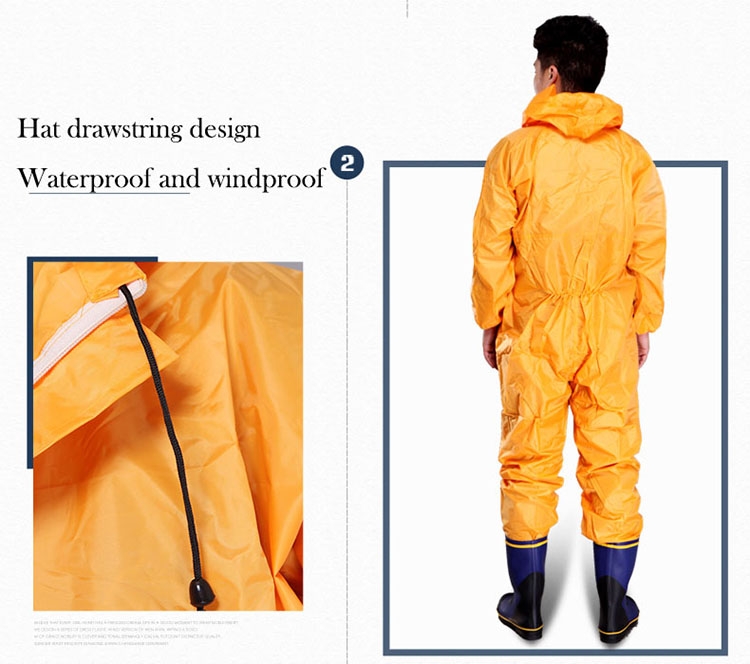 Men Waterproof Overalls Hooded Rain Coveralls Work Clothing Dust-proof Paint Spray Male Raincoat Workwear Safety Suits M-XXXL (6)