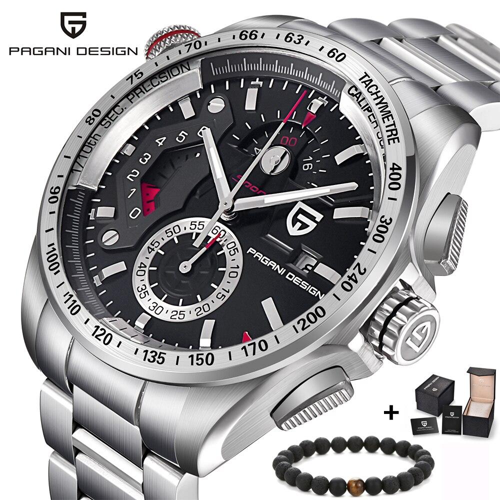 PAGANI DESIGN créatif Quartz hommes montre en acier inoxydable chronographe armée militaire Sport horloge hommes Relogio Masculino Reloj Hombre