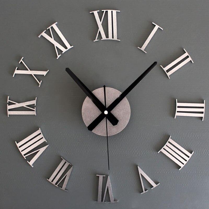 2017 Relógio de Parede Relógio de parede Reloj Relógio Saat Duvar Saati Relógio Digital Auto adesivo Acrílico relógios de parede Murale Horloge