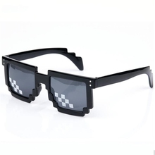 ZXTREE New Fashion Retro Mosaic Pixel Sunglasses Women Men Second Element the World Deal Glasses Party Eyewear Sun glasses Z130