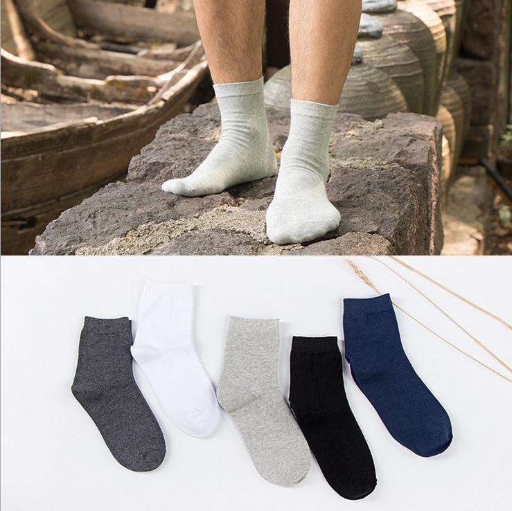 Fashion long crew Socks 5 Pairs/lot Brand Mens Cotton business Socks breathable for Spring Autumn Winter