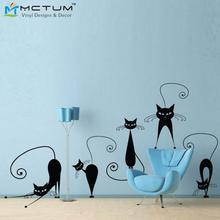 5 teile/satz Mode Niedlichen Katzen Vinyl DIY Wandtattoos Poster Für Wohnzimmer, küche, Dekoration Wandaufkleber