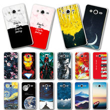 Back Protective Painted Phone Case For Samsung Galaxy Core 2 Duos SM-G355H Dual G355H G355 Various Silicon Cover Capa Fundas(China)