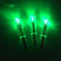 Hot Sale 3x Automatically LED Lighted Arrow Nocks Tail For Crossbow Arrows Archery Tackle ID 7