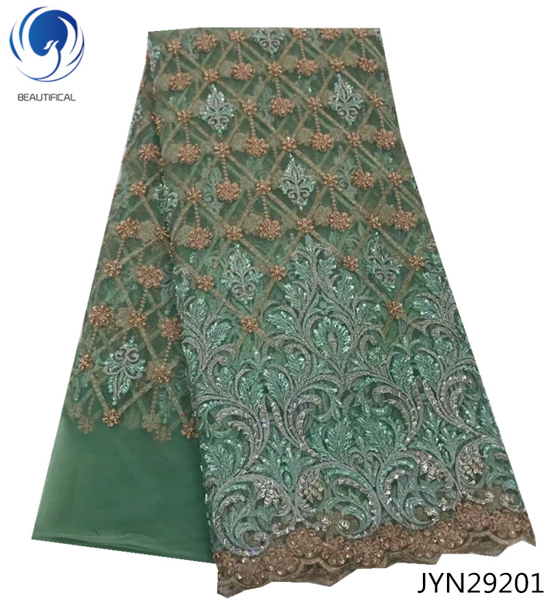 BEAUTIFICAL latest french african laces 2018 embroidered lace tulle fabric 5yards/lot on sale nigerian lace wedding dress JYN292