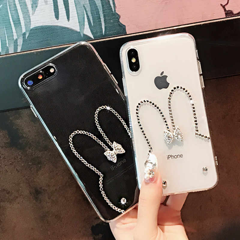 Encantadora funda de teléfono de diamante 3D Bling para Iphone XS Max XR moda para Iphone 6X6 s plus para Iphone 7 7 plus