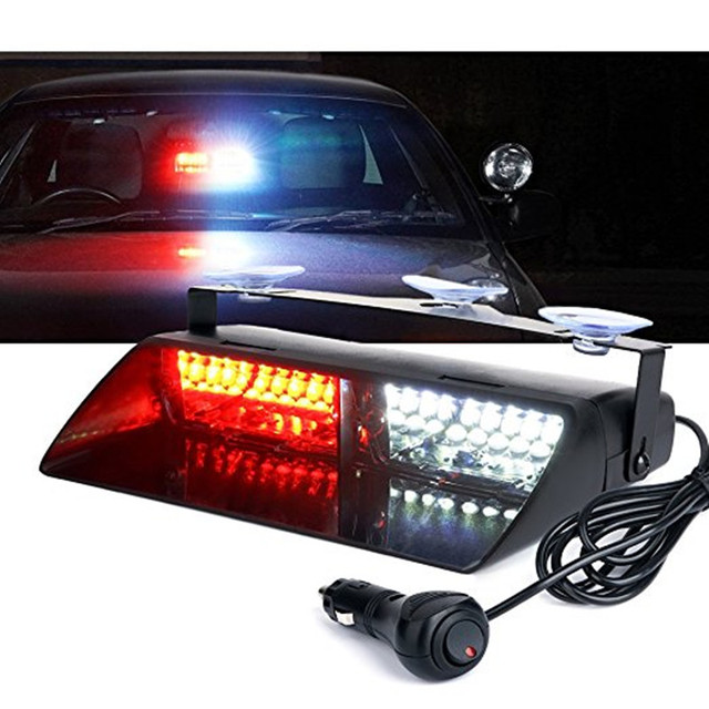 Car 16 LED Red/Blue Amber/White Signal Viper S2 Police Strobe Flash Light Dash Emergency Flashing windshield Warning Light 12vv