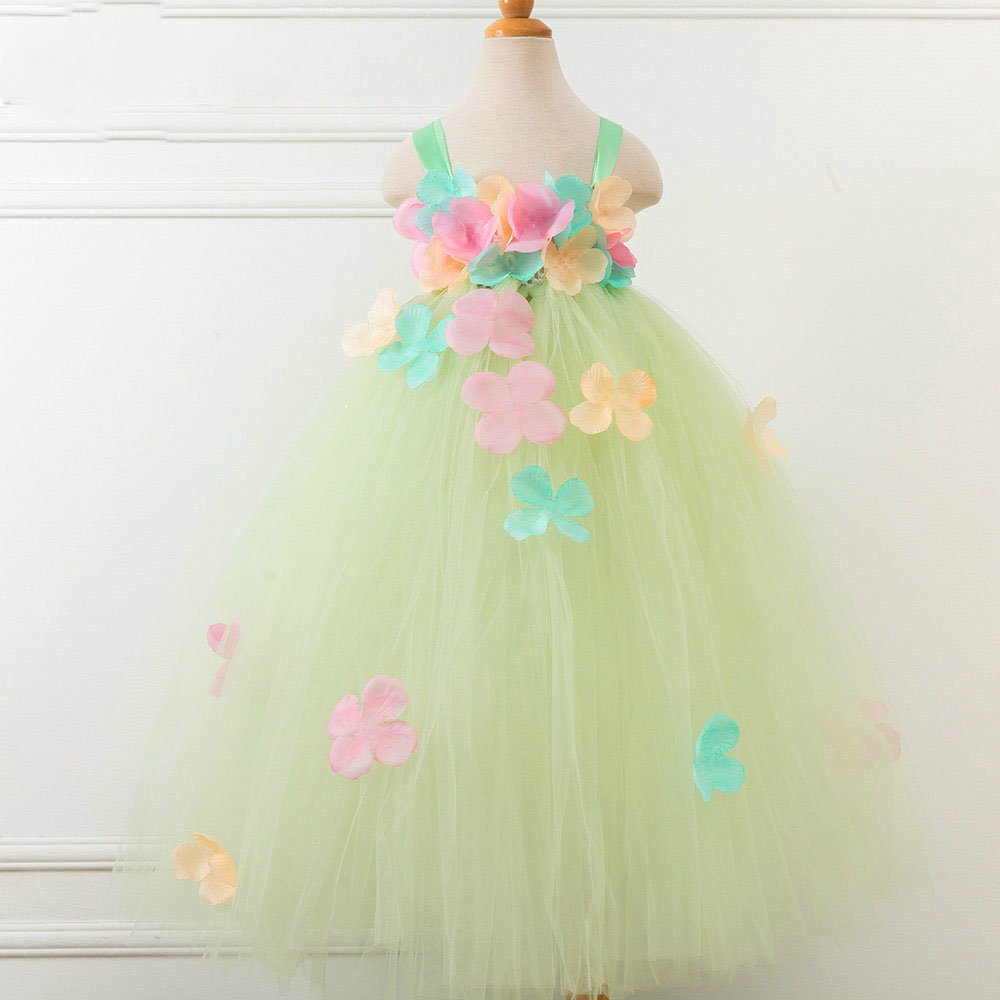 2018 Flower Girls Unicorn Tutu Dress Pastel Rainbow Princess Girls Birthday Party Dress Children Kids Halloween Unicorn Costume pastel girls flower unicorn tutu dress sweet girl birthday party dress children kids tulle princess dress fancy unicorn costume