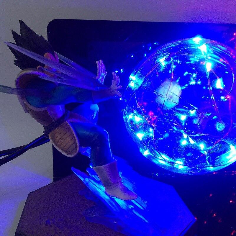 Аниме Dragon Ball Z фигурки, светодиодный Игрушка ночник Сон Гоку против Вегета, бои с эффектом бомбы, фигурка, Подарочные игрушки - 4