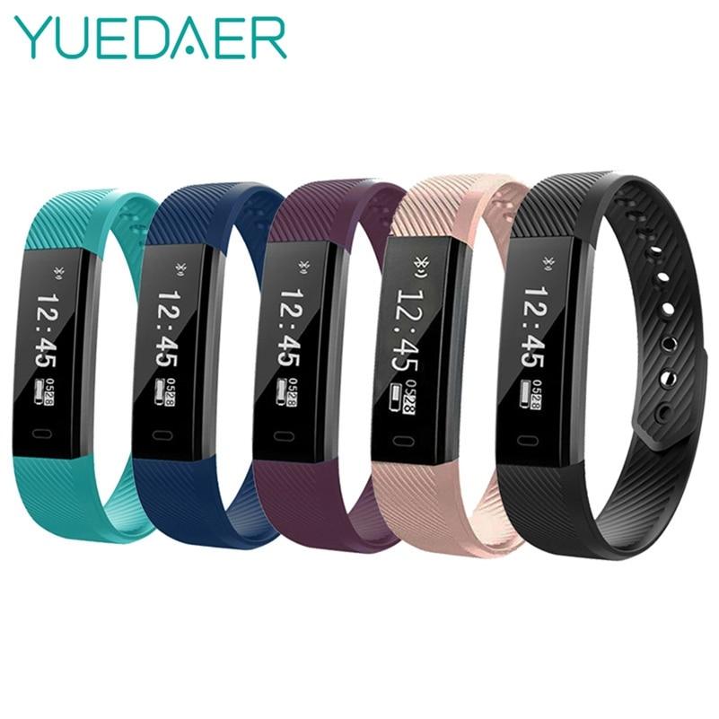 Yuedaer ID115 Smart Band Fitness Tracker Heart Rate Monitor Smart Ring Bunte USB Lade Smart Armband PK Xiao mi mi band 2