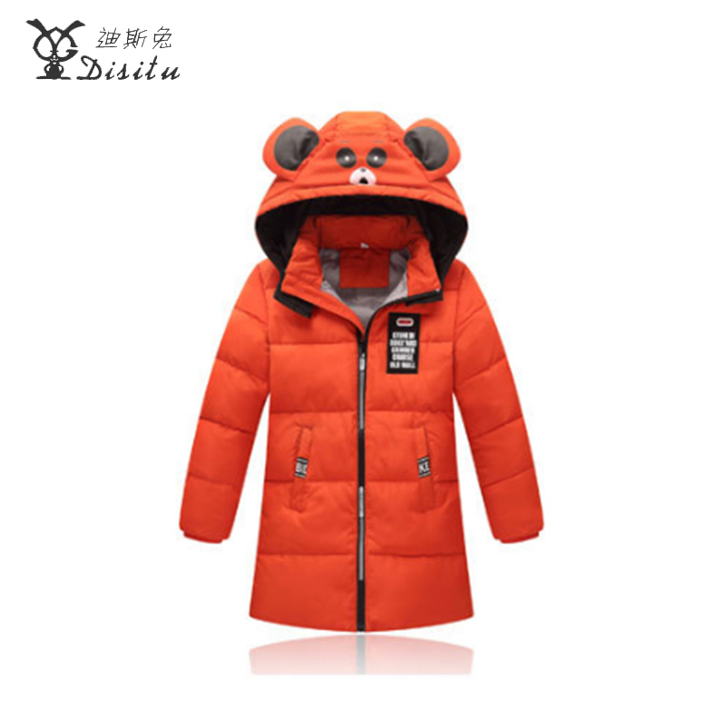 DISITU new cartoon backpack detachable cap winter down jackets for girls boys 80% white duck down thermal down jacket boys winter jackets 80