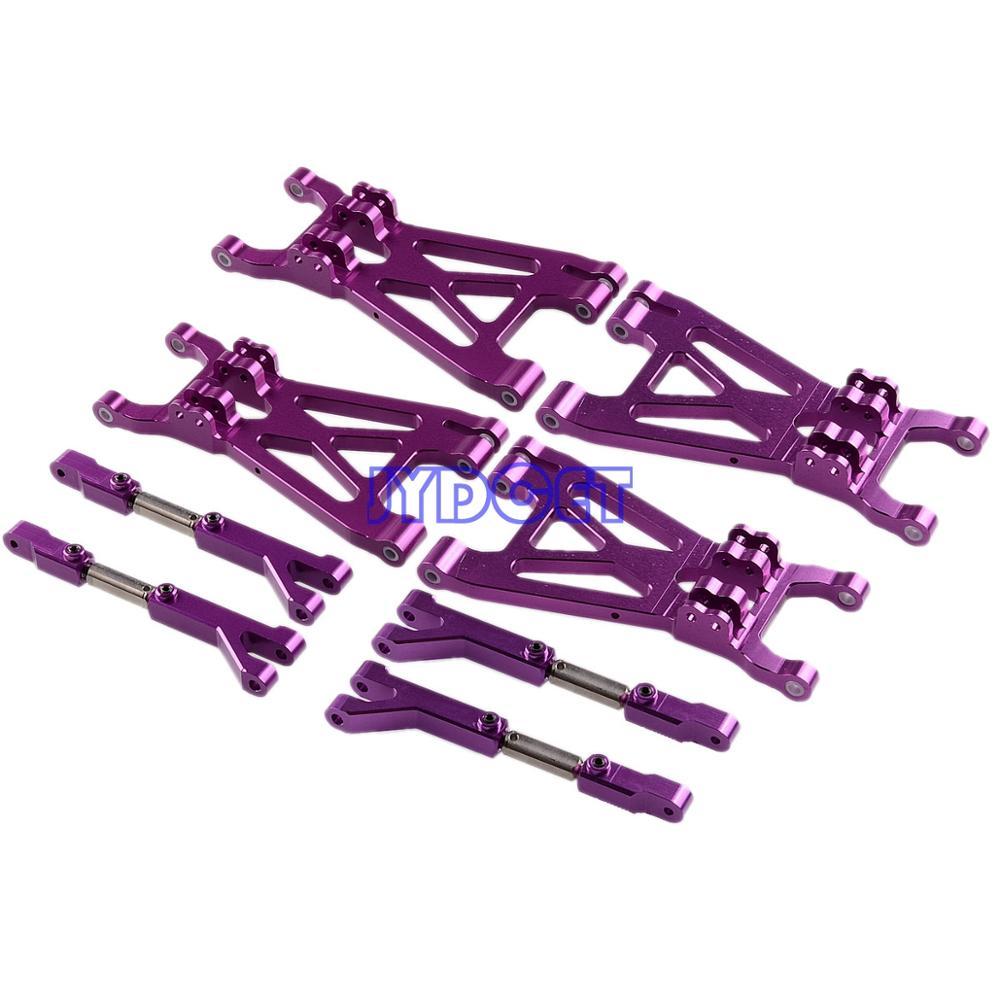 1 ensemble aluminium avant + arrière supérieur + bras inférieur pour RC modèle HPI 1/8 SAVAGE 21 25 SS 3.5 4.6 FLUX X XL RC voiture 1:8