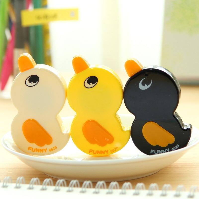 2pcs/ Lot  Kawaii Duck Cartoon Animals Correction Tape Correction Fluid School & Office Supply FOD