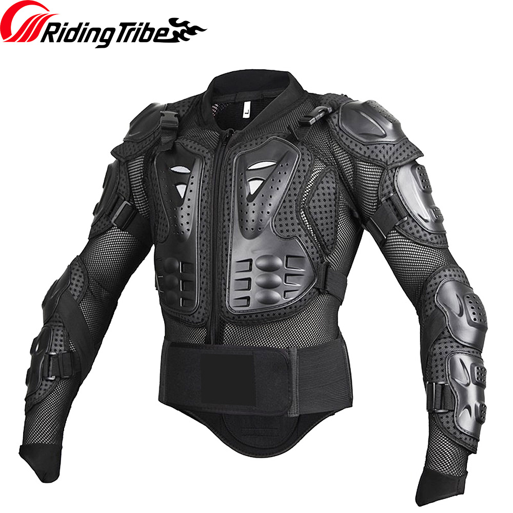 Riding Tribe Motorcycle Body Armor Sheild Motocross Riding Jacket Protection Clothes Chest Spine Column Protector Gear HX P14