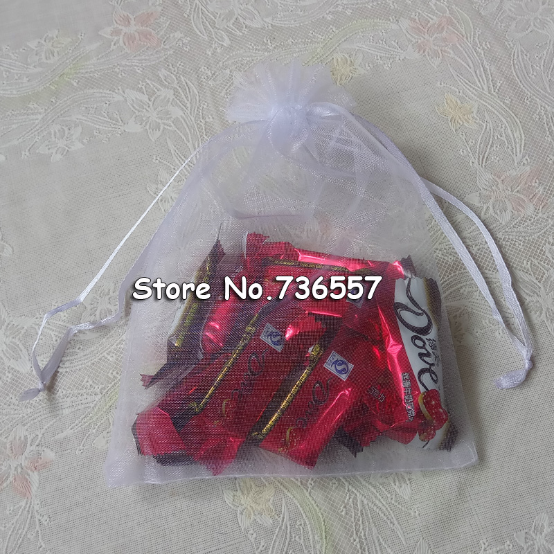 100pcs/lot White Color Organza Bags 13x18cm Wedding Favour Chiffon Envelope Gift Office Packaging
