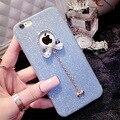 Bling do arco coque tpu soft case para iphone 5 5s se com Luxo Moda Shinny Rhinestone Diamante Melhor Presente Para As Mulheres Lady menina