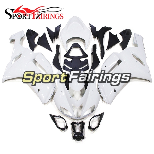 Fairings For Kawasaki ZX6R ZX 6R Ninja 636 Year 07 08 2007 2008 Injection  ABS Plastic Cover Motorcycle Fairing Kit White-in Covers & Ornamental