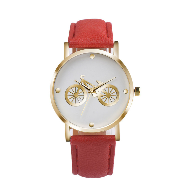 New Arrival Unisex woman watch Bicycle Pattern Dial Leather Band Quartz Analog Wrist Watch Montre Femme Casual Wholesale horloge bort bsi 220s