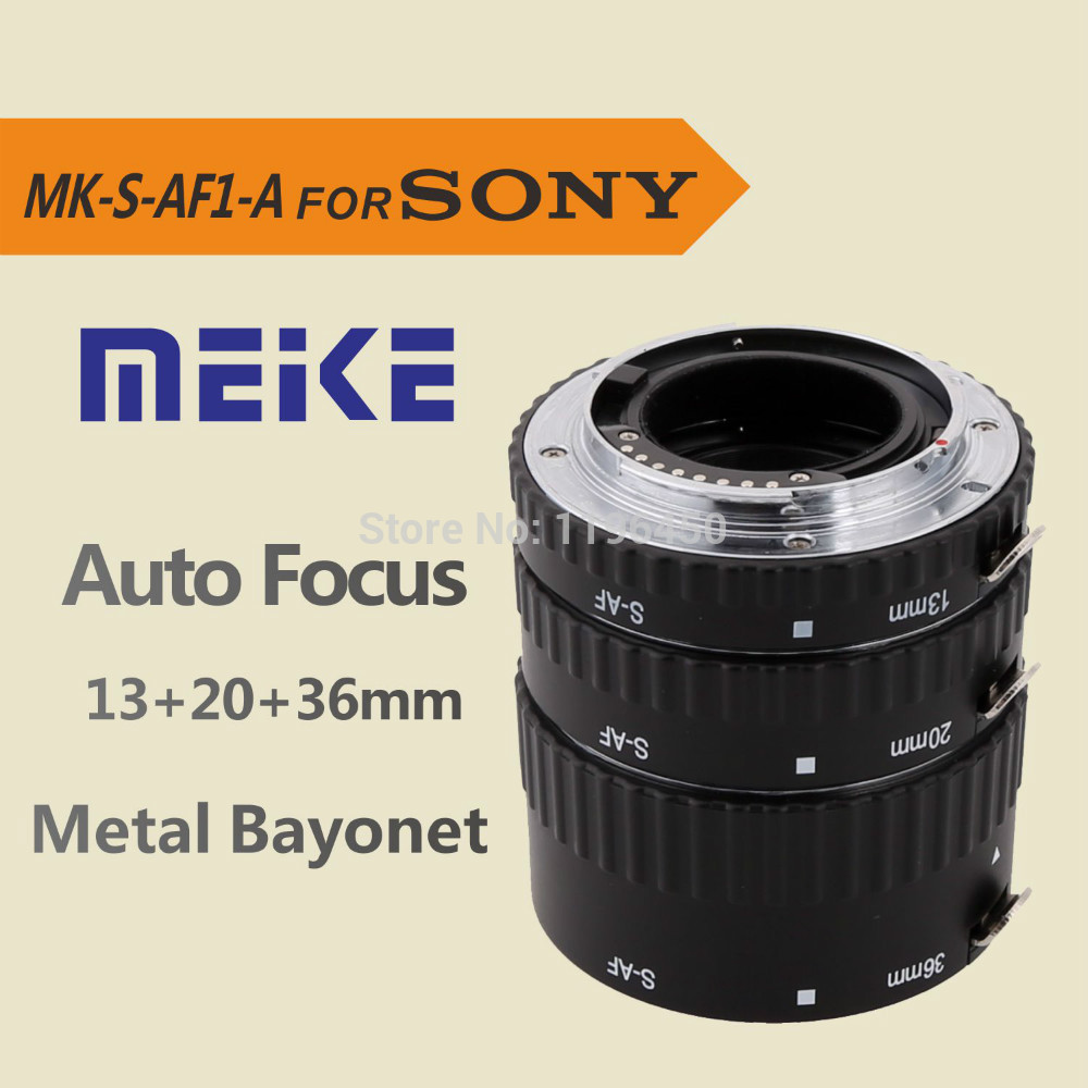 MEKE Meike S-AF1-A Macro Auto Focus Extension tube Ring AF for A57 A77 A200 A300 A330 A350 A500 A550 A850 A900