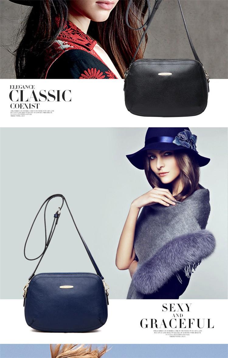 New 2015 Fashion Women Genuine Leather Messenger Bag Shoulder Bags Crossbody  Bolsos Carteras Mujer Marca Handbags Famous Brands03