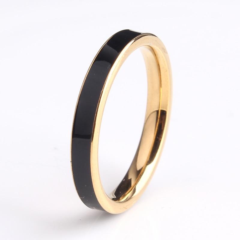 Бесплатная доставка 3 мм золото черного цвета в полоску масла 316L  Нержавеющая сталь обручальные кольца для мужчин и женщин оптовая продажа 97add606bbc