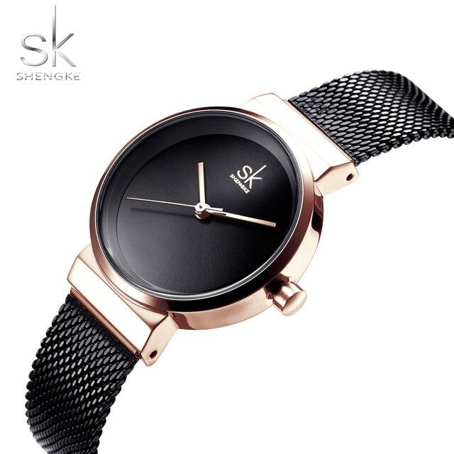 Sk Top Brand Shengke Delle Donne Di Lusso Orologi Di Modo Della Vigilanza Del Br