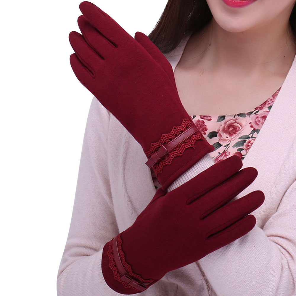 Womens Screen Winter Outdoor Sport Warm Gloves guantes mujer 2017 Fashion Comfortable Christmas gloves
