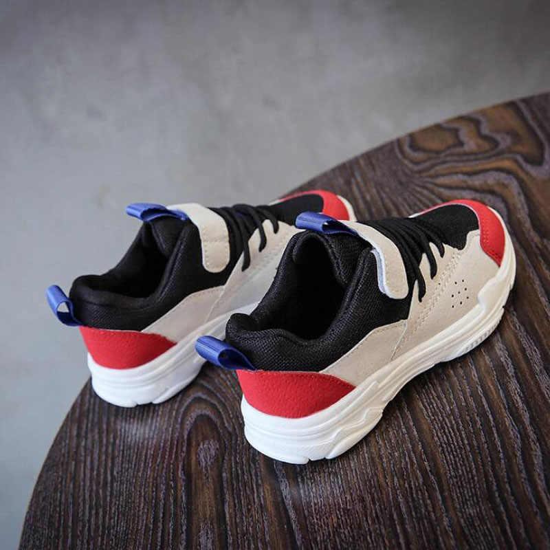 CMSOLO เด็กรองเท้าฤดูใบไม้ร่วงรองเท้าผ้าใบแฟชั่นสำหรับชายหญิงรองเท้าใหม่รองเท้าสีแดงสีเขียวสีฟ้าเด็กร้อน