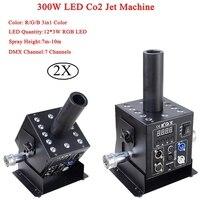 Этап Dj оборудование 12x3 Вт RGB 3In1 легко Multi Угол маленький светодиодный CO2 струя машина DMX Powercon DJ светодиодный Co2 пушка для сцены эффект