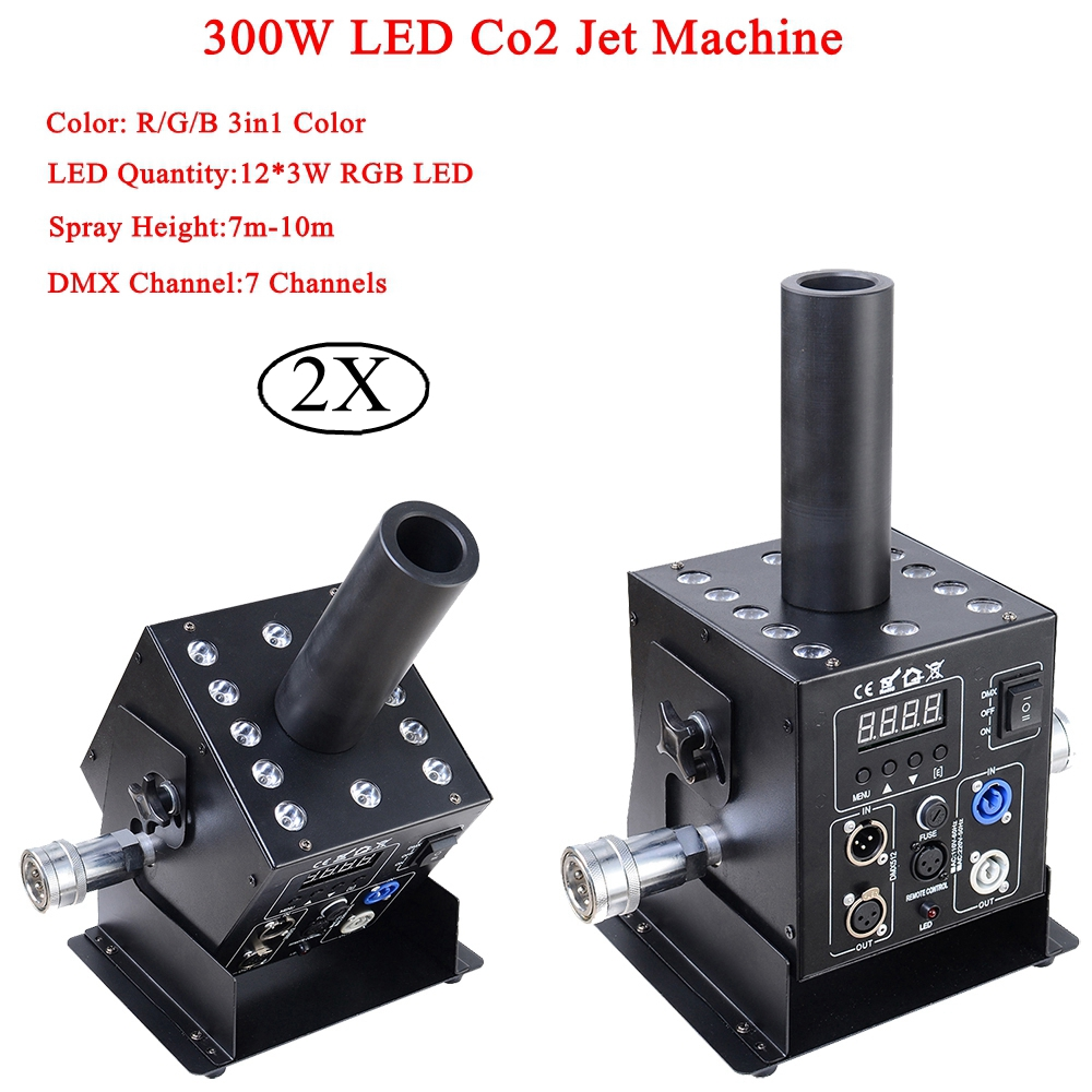 Stage Dj Equipment 12x3w RGB 3In1 Easy Multi Angle Small LED CO2 Jet Machine DMX Powercon DJ LED Co2 Cannon For Stage Effect