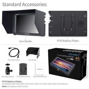 "Image 5 - Feelworld FW703 7 인치 3G SDI 4K HDMI 모니터 7 ""IPS 1920x1200 히스토그램 피어싱 포커스 얼룩말이 장착 된 풀 HD 카메라 필드 모니터"