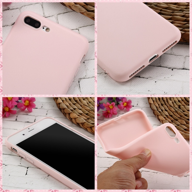 XBXCase Macarons Color TPU Silicone Frosted Matte Case for iPhone 6 6S 5 5S SE 8 Plus X Soft Back Cover for iPhone 7 7Plus