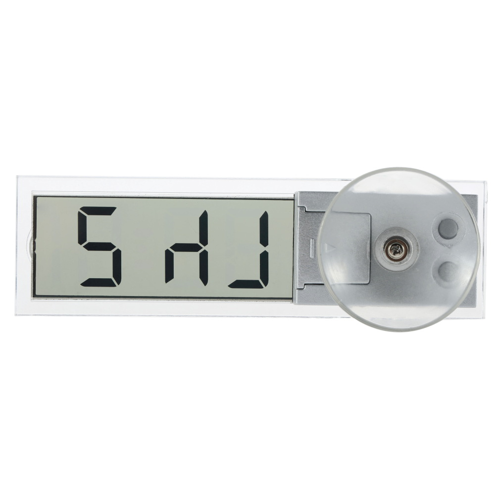 1 unids Buscar Caliente Durable Transparente Display LCD Digital de Coches Reloj
