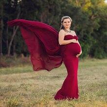 5e5631a1c Vestidos de maternidad para sesión fotográfica cuello en V vestido rojo  maternidad fotografía Props sin mangas embarazo vestido .