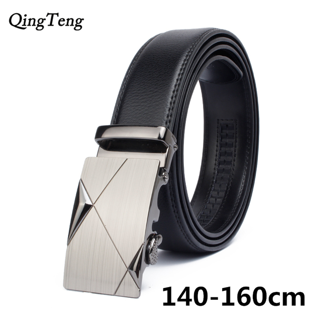 6c9ba60e3 140cm -160cm plus big size belt Classic brand Design men s automatic buckle  genuine leather belts cinto masculino