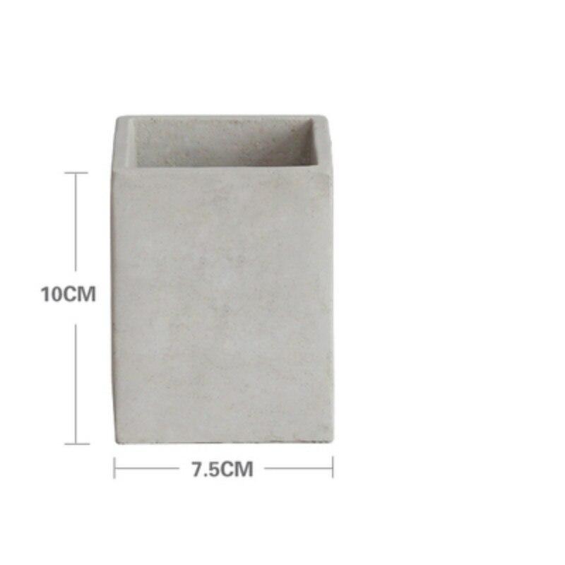 3D Concrete Planter Molds Square Cube Silicone Cement Mold for flower pot Desktop Decorating flowerpot vase