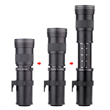 Pixco 420 800mm F/8.3 16 Super Telephoto Manual Zoom Lens +T2 Mount Ring Adapter for Canon Nikon Sony Pentax E mount DSLR Camera