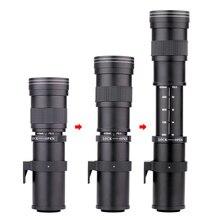 Pixco – objectif Zoom manuel Super téléobjectif 420 800mm F/8.3 16 + anneau de montage T2, pour appareil photo DSLR Canon, Nikon, Sony, Pentax E