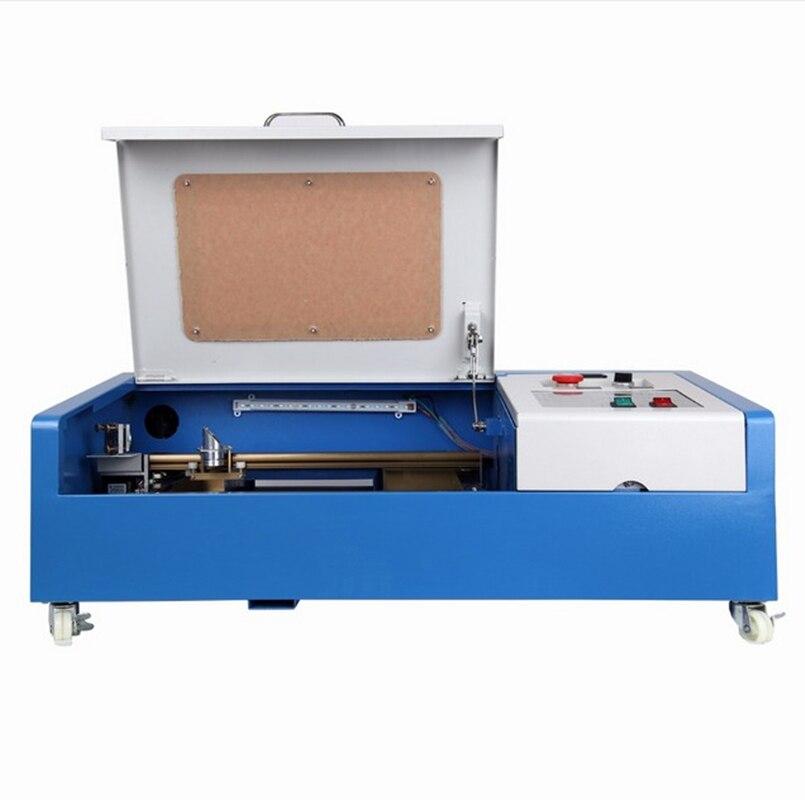 Aktualizacja 40W CO2 USB maszyna do grawerowania laserowego grawerowania z pompą wodną 300x200mm