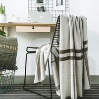 Crochet Wool Blankets for Beds Sofa Plaid Fabric Fleece Portable Air Conditioning Travel Decorative knitted Geometric