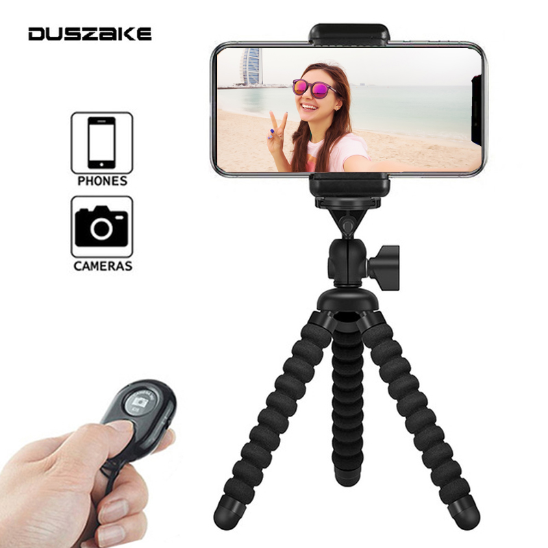 DUSZAKE Flexible Gorillapod Mini Tripod for Phone Gorillapod Camera Phone Tripod Mini for iPhone Xiaomi Phone Camera Accessories duszake dt2 camera mini tripod for phone stand aluminum for iphone tripod for phone camera mini tripod for mobile gorillapod