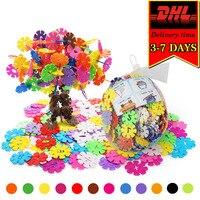 DHL 2000pcs Snowflake Building Blocks Colorful DIY Bricks Compatible Model Kit Classic Educational Toy For Children