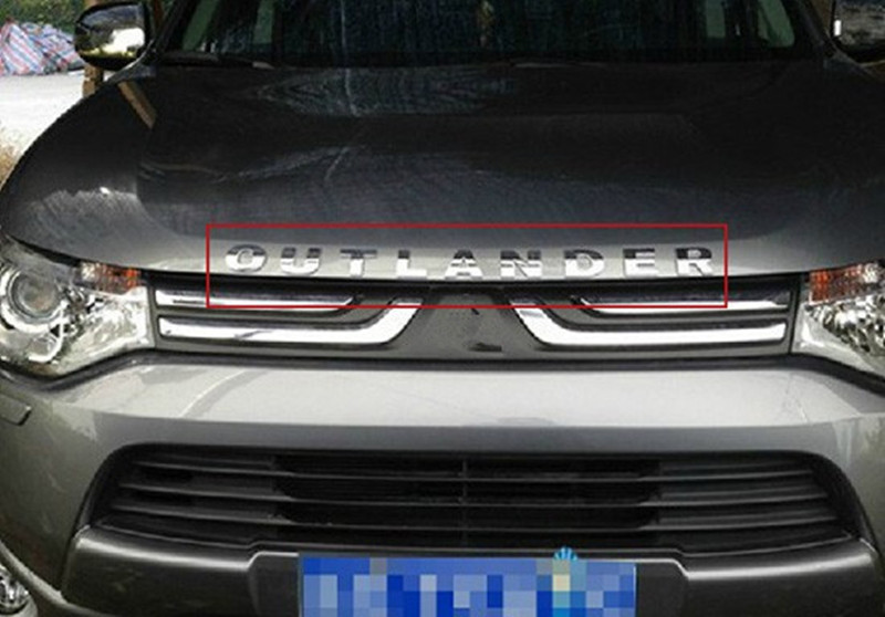304 edelstahl motorhaube haube LOGO Für 2010-2016 Mitsubishi Outlander Samurai Auto styling